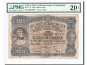 Switzerland, 100 Francs 1918, PMG VF 20, Pick 9a