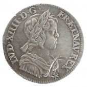 LOUIS XIV, ¼ Écu with short lock
