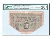 China, Yue Soo Imperial Bank, 5 Dollars 1908, PMG VF 20, Pick S1233b