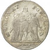 Coin, France, Union et Force, 5 Francs, 1799, Bayonne, EF(40-45), Silver