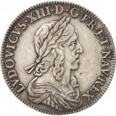 France, Louis XIII, 1/2 Écu, 1643, Paris, KM:135.1