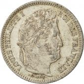 Coin, France, Louis-Philippe, 2 Francs, 1834, Rouen, AU(55-58), Silver