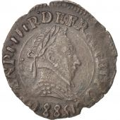 France, Henri III, Double Tournois, 1588, Lyon, SUP, Cuivre, CGKL:66
