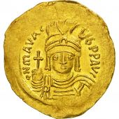 Coin, Maurice Tiberius, Solidus, Constantinople, MS(63), Gold, Sear:478