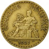 France, Chambre de commerce, 2 Francs, 1927, Paris, EF(40-45), Aluminum-Bronze