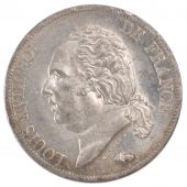 Louis XVIII, 5 Francs with naked bust