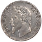 Second Empire, 5 Francs Napoléon III laureate head